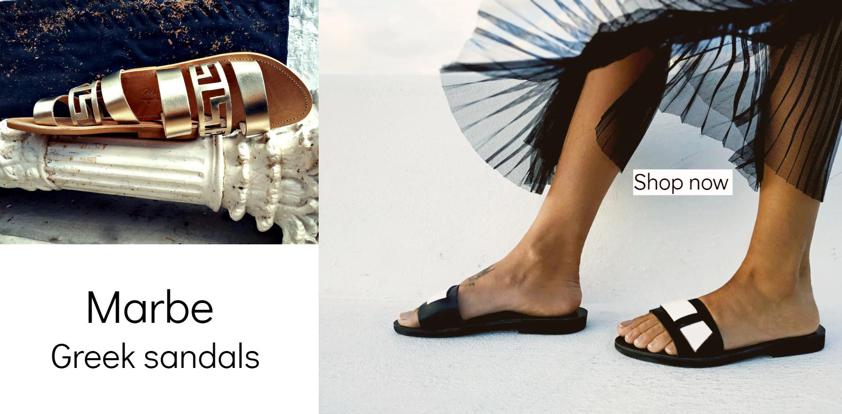 e7e902935830d Marbe Unique Handcrafts | Genuine Leather Sandals Boho Greek Sandals
